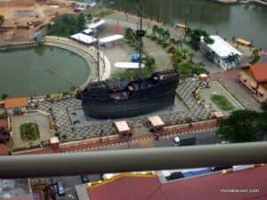 Pemandangan dari Menara Taming Sari