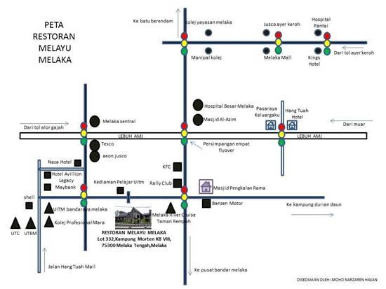 Restoran Melayu Melaka maps