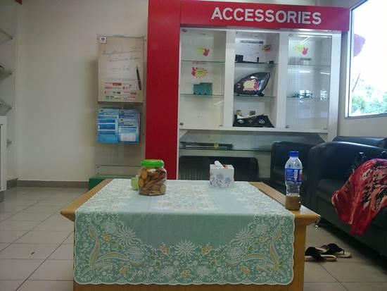 tempat menunggu pelanggan di perodua melaka