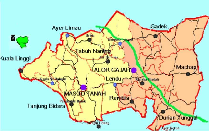 Peta Alor Gajah